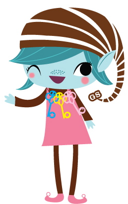 Brownie Elf Coloring Page http://queenofconnection.com/tag/brownie-girl-scout/